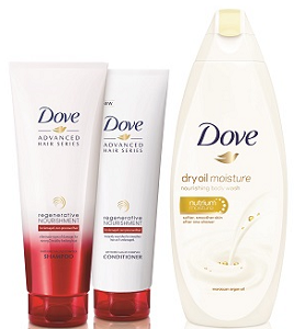 Dove Dry Oil and Regenerative Product