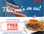 FREE Burger for Military at Shoneys