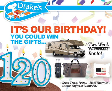 Drakes Cake 120th Anniversary Sweepstakes Giveaway