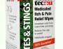 Medicated Itch Pain Relieving Wipes