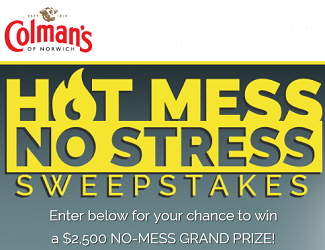 Colmans Mustard Hot Mess No Stress Sweepstakes