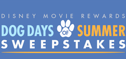Disney Movie Rewards Dog Days of Summer Sweepstakes