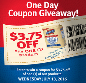 Dixie One Day Coupon Giveaway