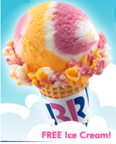 FREE Regular Scoop of Ice Cream at Baskin-Robbins