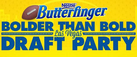 Nestle Butterfinger Bolder Than Bold Las Vegas Draft Party Sweepstakes