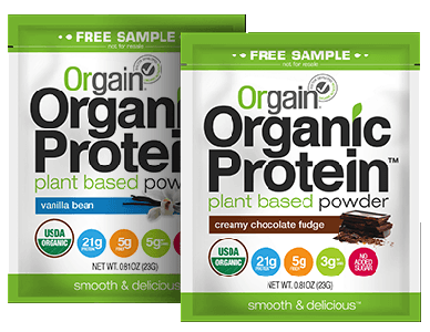 Organic product samples