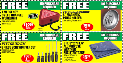 Free Led Worklight Tarp Screwdrivers Or Magnetic Parts Holder At