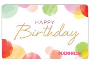 FREE 10 Kohls Gift Card For Your Birthday