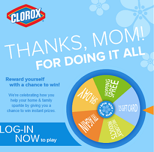 Clorox Wheel of Thanks Instant Win Game and Sweepstakes - Hunt4Freebies
