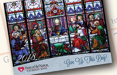 free 2018 heart of the nation catholic art calendar