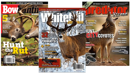 Get FREE Subscriptions to Bowhunting World, Predator Xtreme, and Whitetail  Journal Magazines!