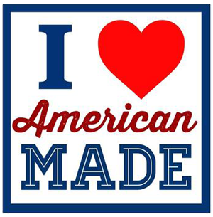 Amostras I Love American Made - Autocolantes I-Love-American-Made-Sticker