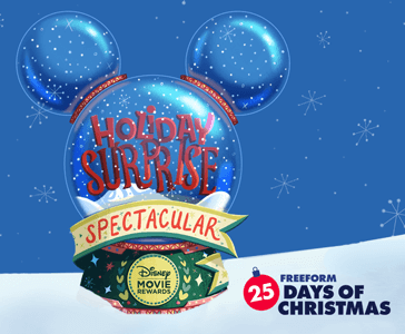 FREE Disney Movie Rewards Bonus Codes for 25 Days of Christmas