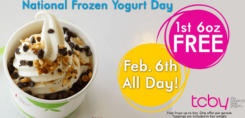 Free Froyo At Tcby For National Frozen Yogurt Day Today