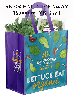 Earthbound Farm Reusable Bag Giveaway (12,000 Winners