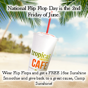 graphic regarding Tropical Smoothie Coupons Printable known as Free of charge Smoothie at Tropical Smoothie Restaurant upon June 14th