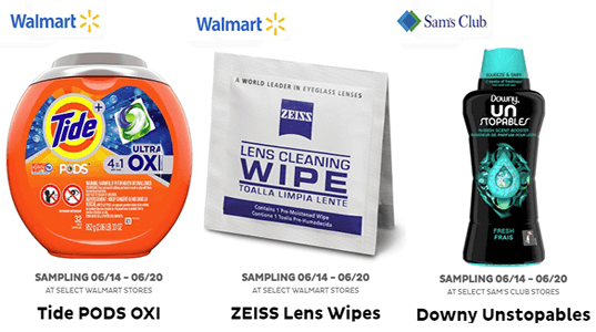 FREE Samples from Freeosk In-Store at Sam's Club and Walmart