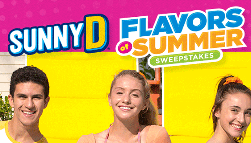 SUNNYD Flavors of Summer Sweepstakes & Instant Win Game (Over