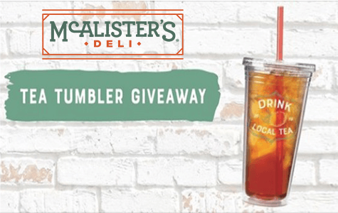 graphic about Mcalister's Coupons Printable referred to as Totally free 2019 32 oz. Reusable Tea Tumblers at McAlisters Deli