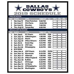Unusual image pertaining to printable dallas cowboys schedule
