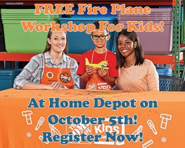 FREE Fire Plane Workshop For Kids at Home Depot on October