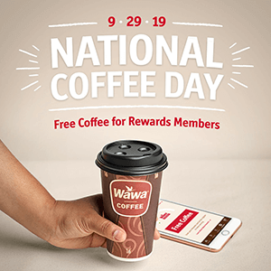 graphic about Wawa Coupons Printable referred to as Cost-free Cup of Espresso at Wawa upon September 29th - Hunt4Freebies