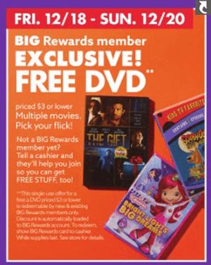 Free Dvd At Big Lots On 12 18 20